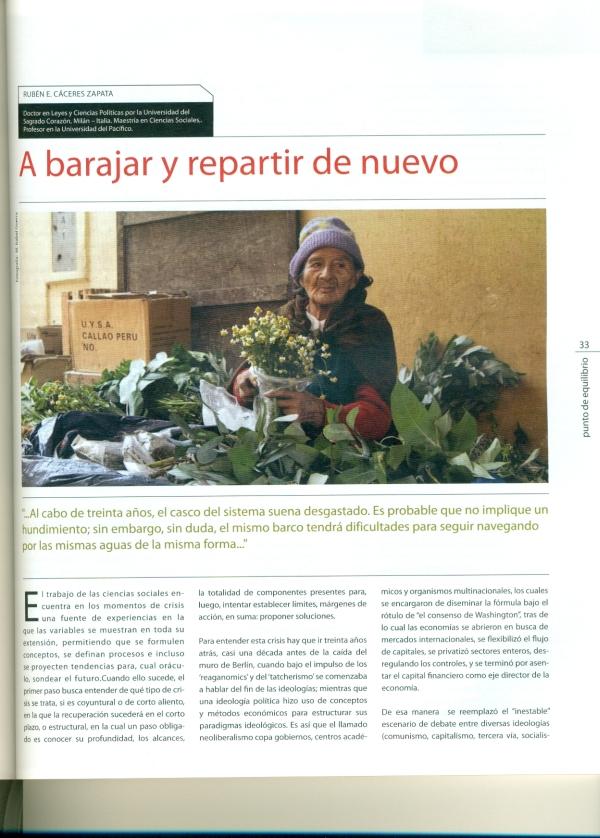 Articulo de Rubén E. Cáceres
