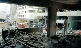 Calle Tarata, después atentado, desde uno de los departamentos destruidos (Foto: La República)