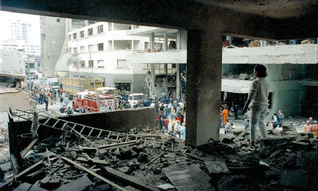 1992: Calle Tarata, después atentado, desde uno de los departamentos destruidos (Foto: La República)