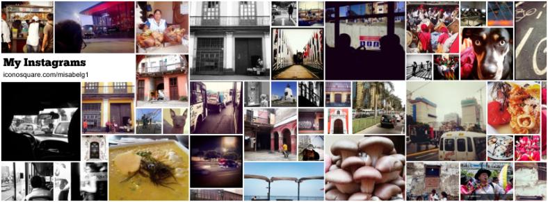 Resumen de mis posts en Instagram (hecho con Iconosquare).